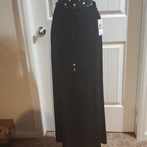 NWT Michael Kors black long skirt